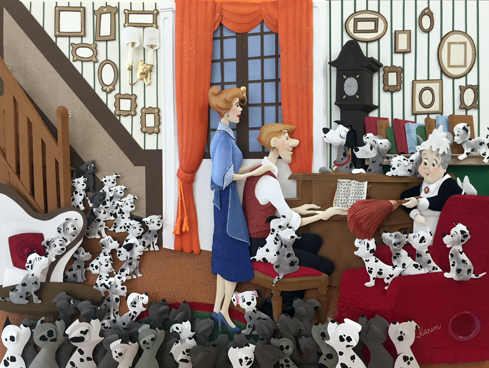 Karin Arruda Paper Art - Family Song