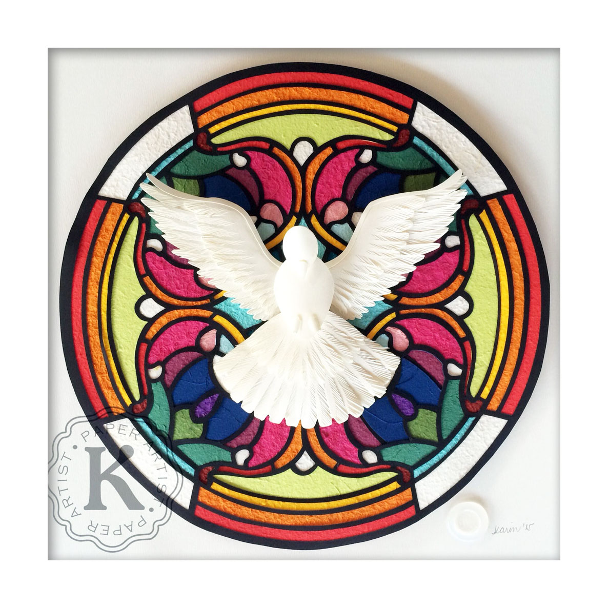 Karin Arruda Paper Art - Holy Spirit Stained Glass