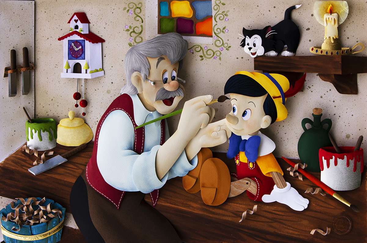 Karin Arruda Paper Art - Geppetto`s Dream