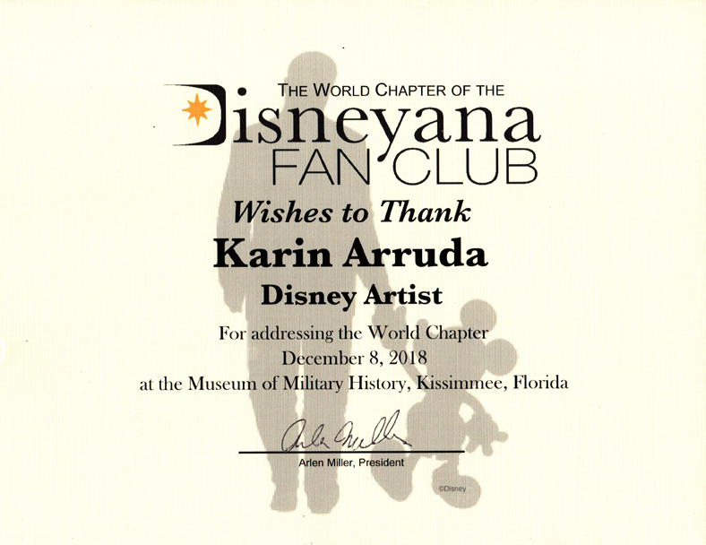 Karin Arruda - Disneyana Fan Club Addressing
